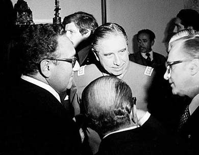 Kissinger y Pnochet