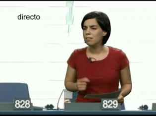 Esther Vivas en el Parlamento Europeo