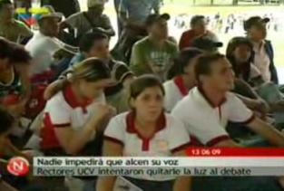 ESTUDIANTES VENEZOLANOS EN DEFENSA CONTRA LA UNIVERSIDAD OLIGARCA