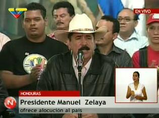 HONDURAS GOLPE DE ESTADO EN GESTACION CONTRA ZELAYA