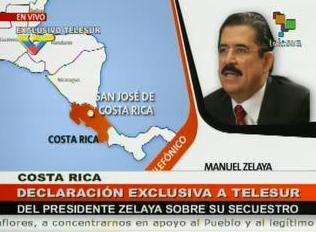 MANUEL ZELAYA DESDE COSTA RICA