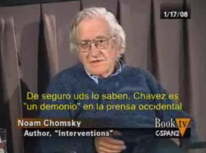 NOAM CHOMSKY Y SU APOYO A CHAVEZ