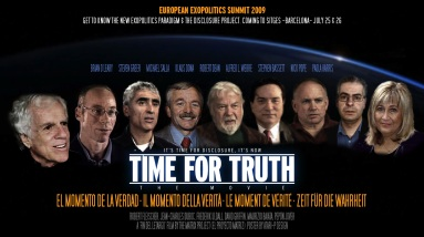 poster oficial time for truth cumbre exopolitica