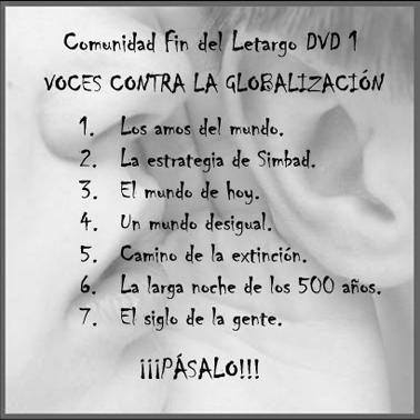 DVD1 Fin del Letargo Contraportada