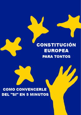 Constitución Europea para tontos