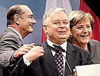 Chirac, Kaczynsky, Merkel