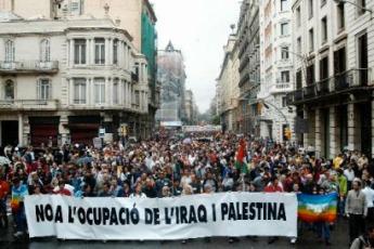 Manifestación en Barcelona España
