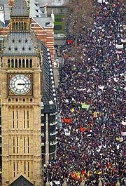 Manifestación Londres