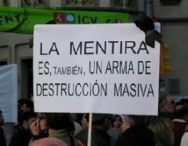 mentira arma de destrucción masiva