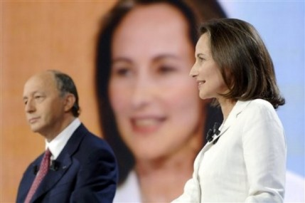 Laurent Fabius y Segolene Royal
