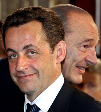 Jaques Chirac y Sarkozy