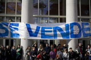 Spain University Protest