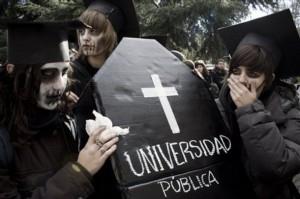 APTOPIX Spain University Protest