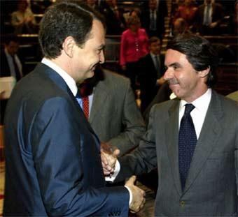 José María Aznar y José Luis Rodríguez Zapatero