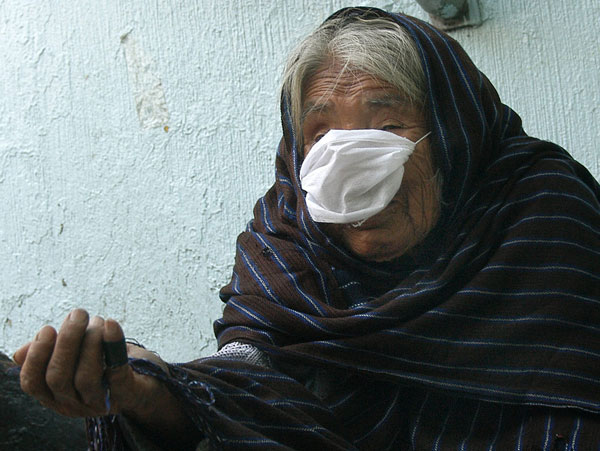 anciana gripe porcina