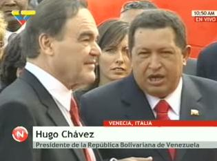HUGO CHAVEZ Y OLIVER STONE