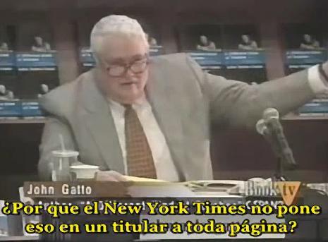 JOHN TAYLOR GATTO Y LOS MEDIOCRES POLITICOS