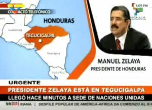 MANUEL ZELAYA DESDE TEGUCIGALPA