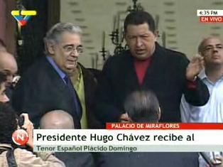 PLACIDO DOMINGO Y HUGO CHAVEZ