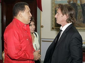 HUGO CHAVEZ Y SEAN PENN