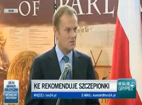 primer ministro polonia vacunas gripe a