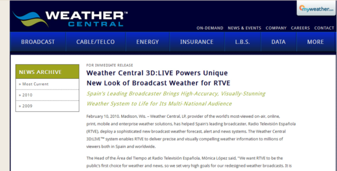 WEATHER CENTRAL - RTVE